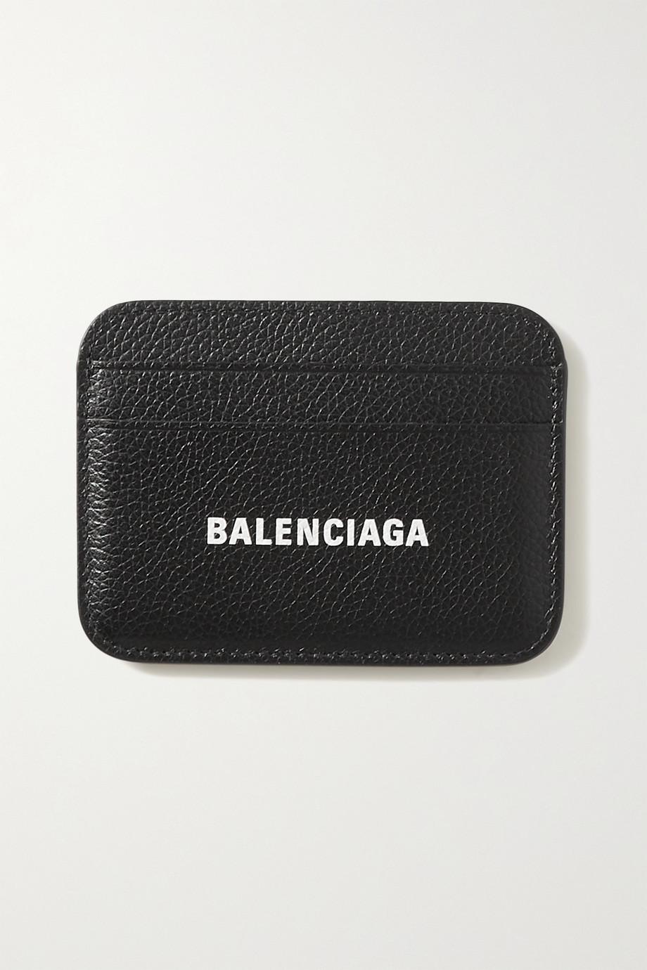 Balenciaga Cash printed textured-leather cardholder