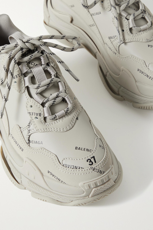 Balenciaga Baskets en cuir et en résille imprimés Triple S