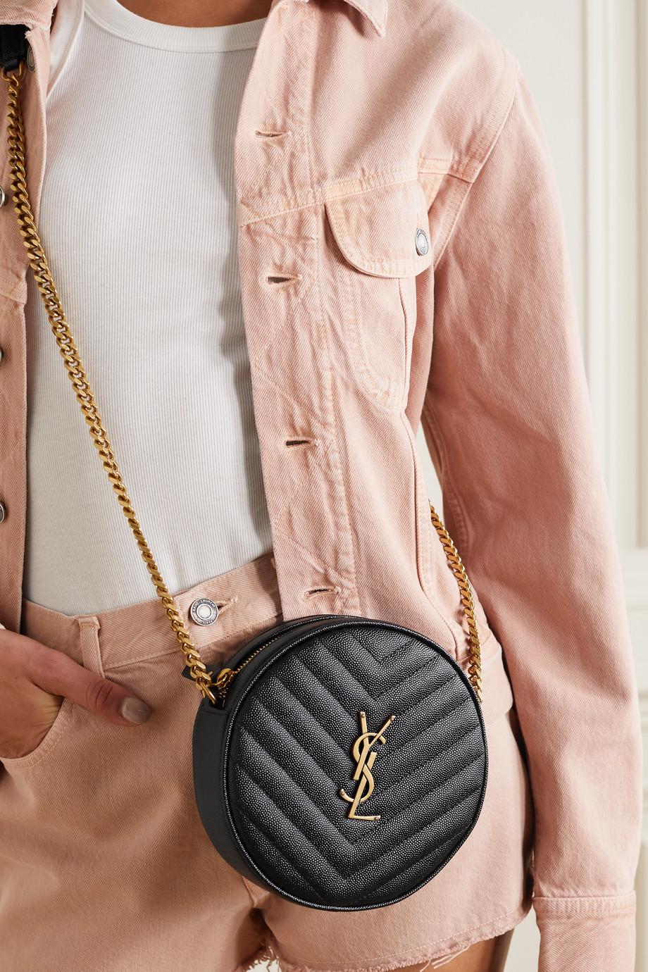 SAINT LAURENT Sac porté épaule en cuir texturé Vinyle