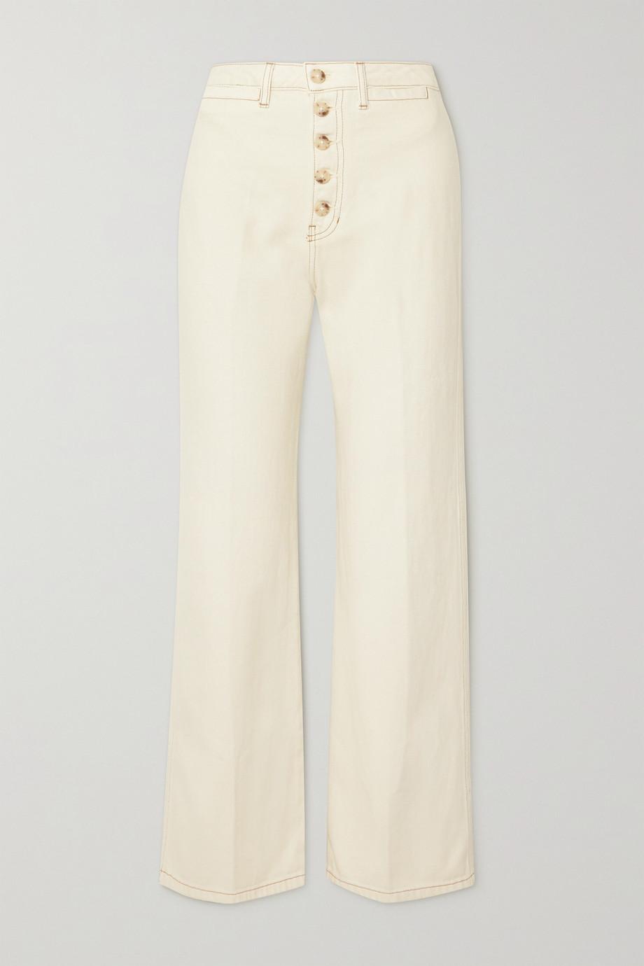 Reformation Jean large taille haute en coton biologique Lexi
