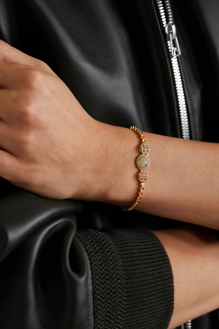 Lorraine Schwartz Bracelet en or 18 carats (750/1000) et diamants 2B Happy Small
