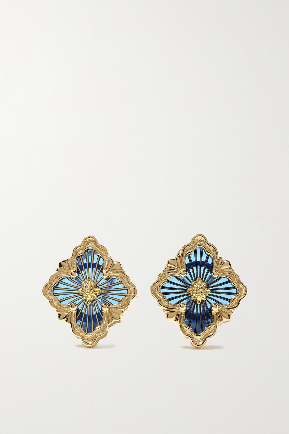 Buccellati Opera Tulle 18-karat gold enamel earrings