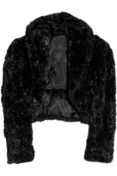 Anna Sui|Faux-fur cropped jacket|NET-A-PORTER.COM