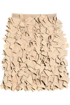 Willow Laser-cut crepe skirt