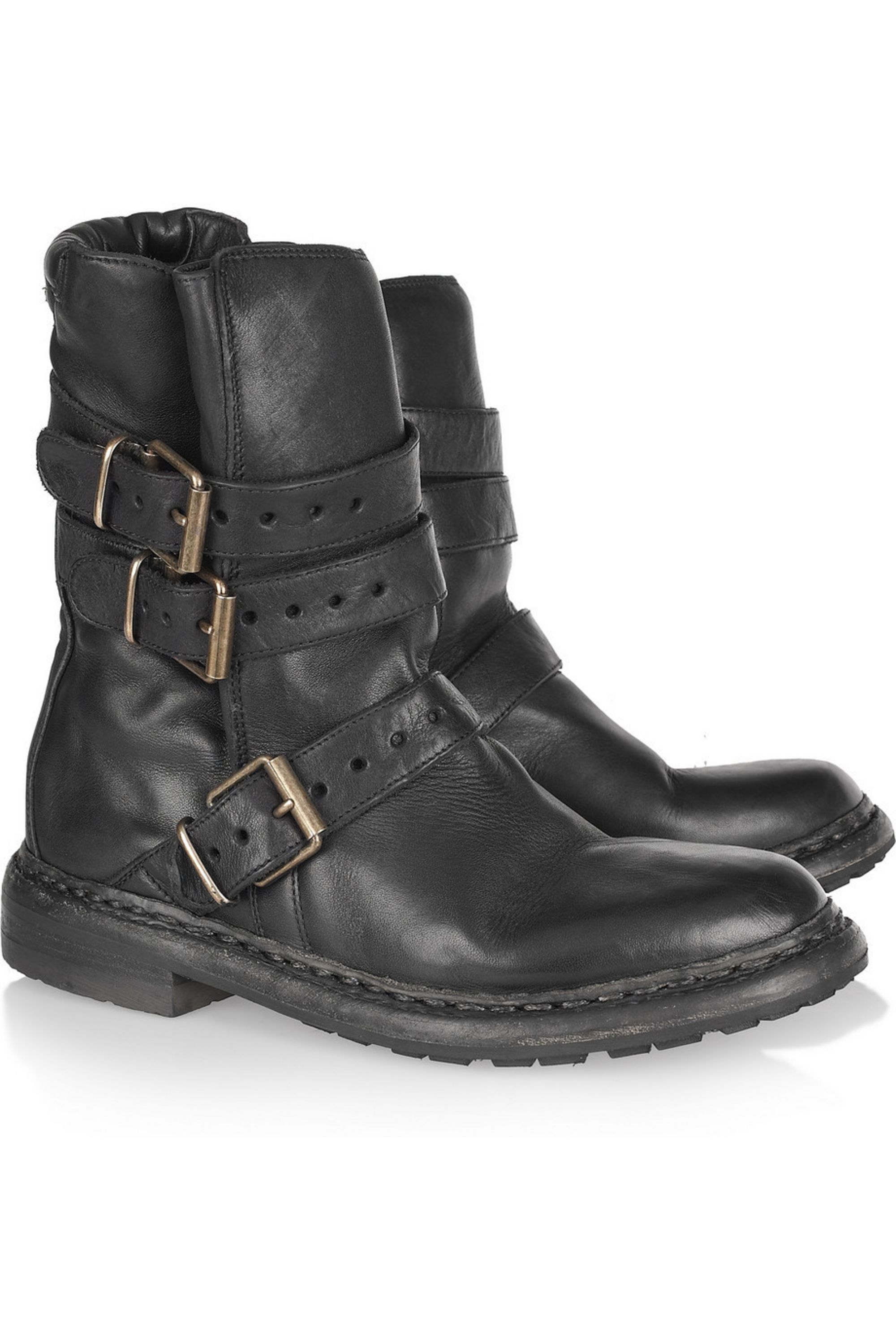 Burberry Leather biker boots