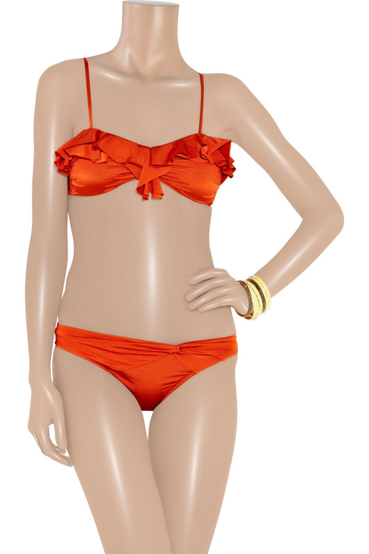 JETS by Jessika Allen Lustre twist-front bikini briefs