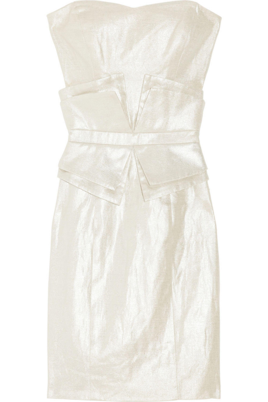 Silver One More Night Metallic Linen And Cotton Blend Dress Sass Bide Net A Porter