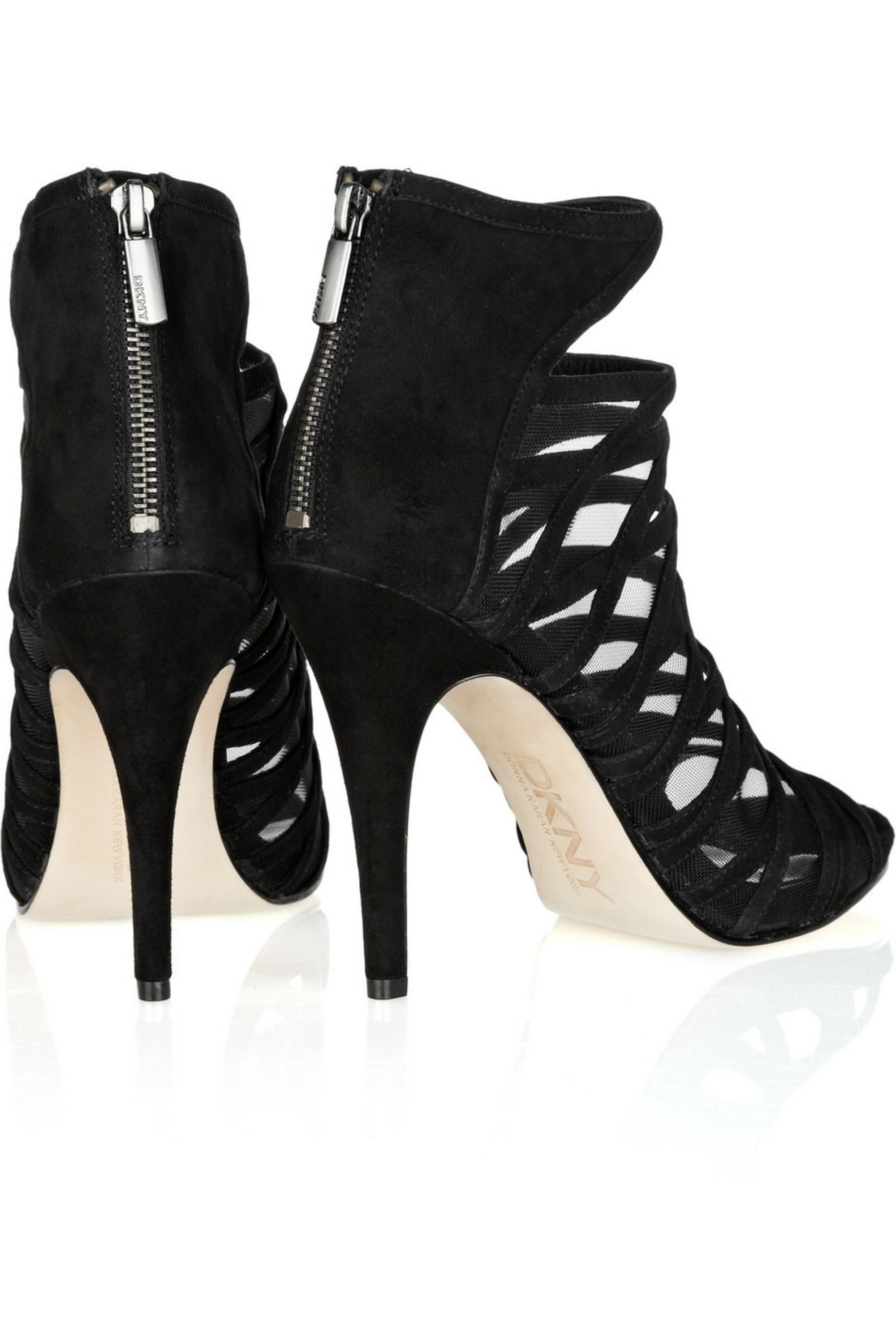 DKNY Ava suede cage sandals