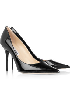 Jimmy Choo | Abel pointed patent-leather pumps | NET-A-PORTER.COM