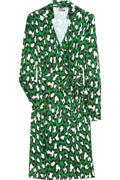 baabb3ce8dcf Diane von Furstenberg. New Jeanne leopard-print silk-jersey wrap dress