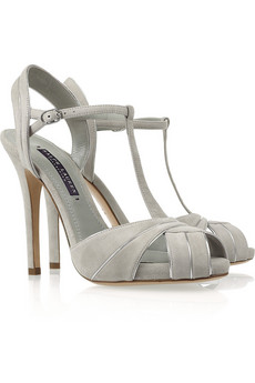 Ralph Lauren Collection | Jalie suede T-bar sandals | NET-A-PORTER.COM from net-a-porter.com