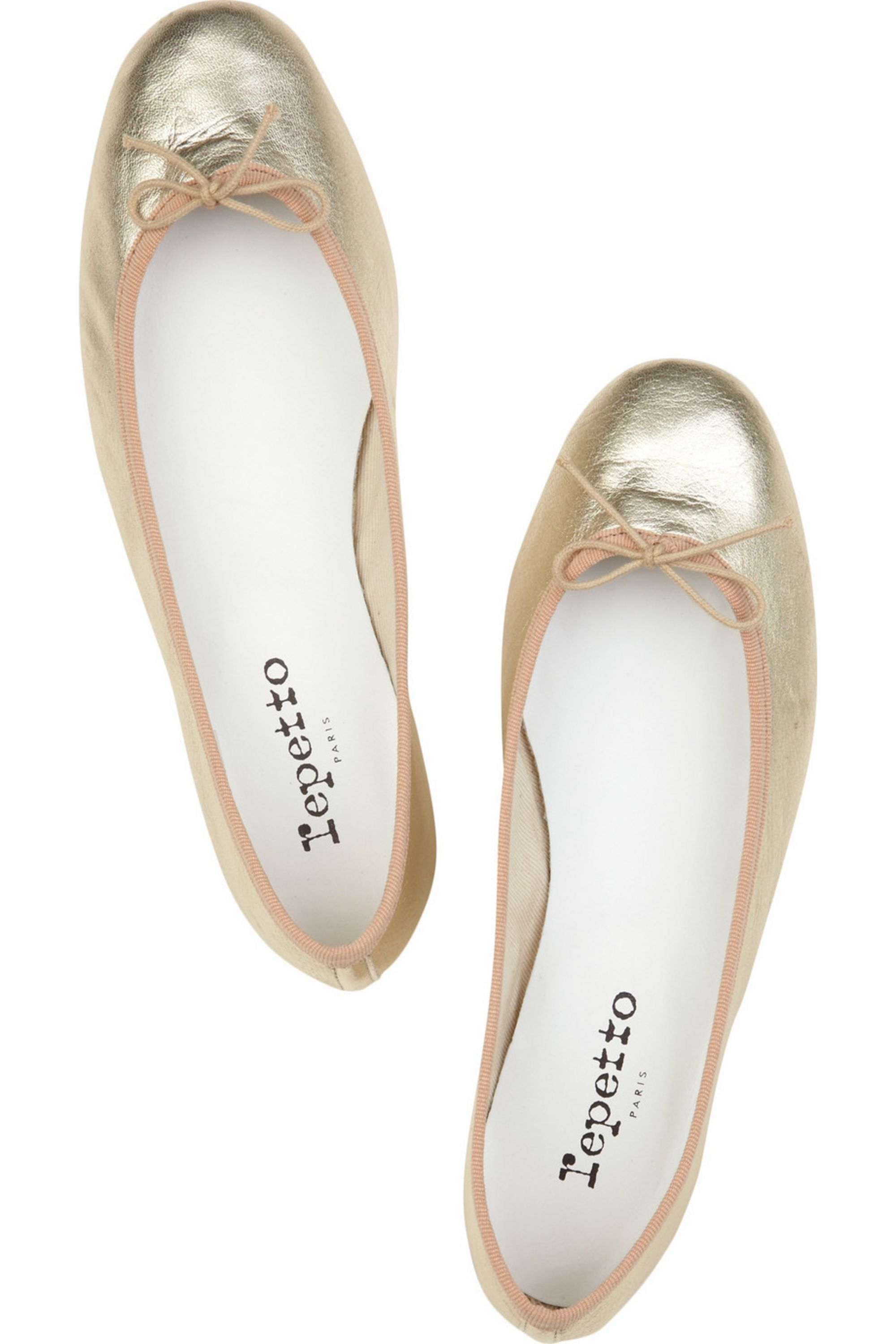 Repetto BB metallic leather ballet flats