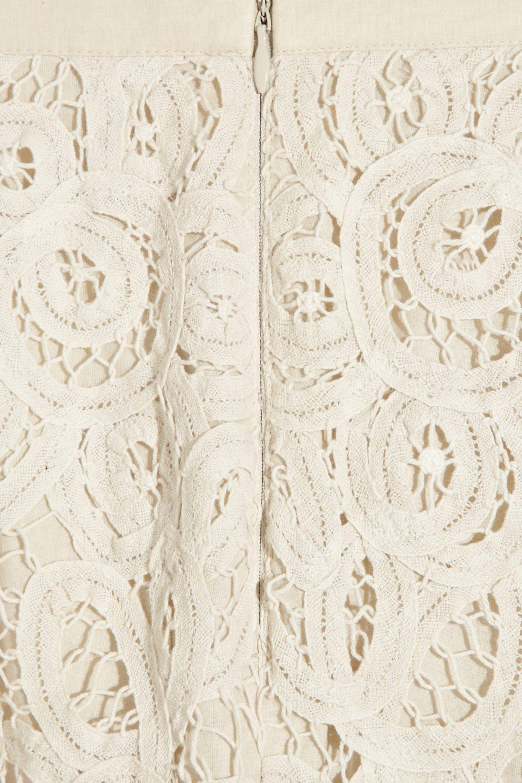 Bird by Juicy Couture Battenburg cotton-lace mini skirt