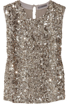 Vince Sequined crepe top