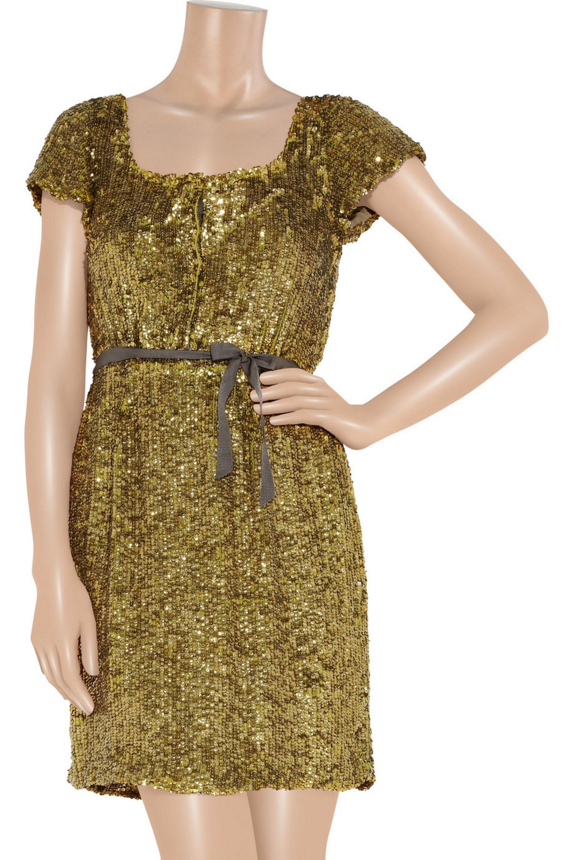 J.Crew Sequined silk-crepe dress