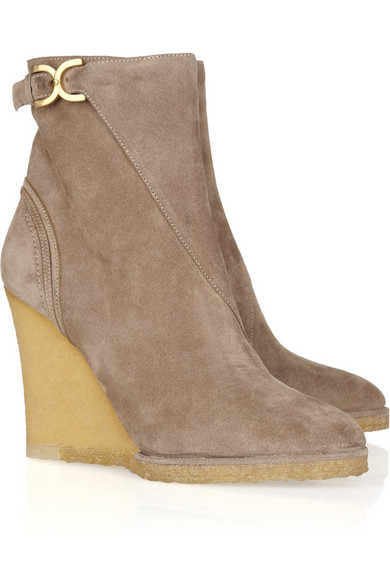 get to buy sale online buy sale online Chloé Suede Wedge Ankle Boots store sale online real for sale Manchester cheap online 69qymKwcH