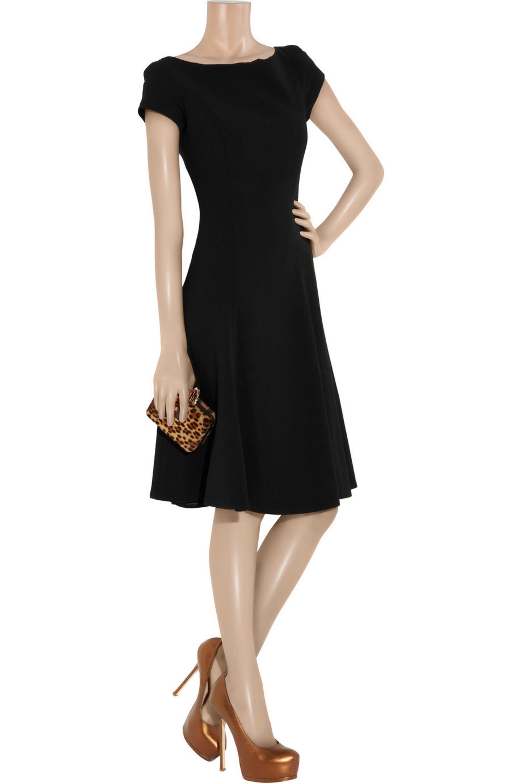 Ralph Lauren Collection Erica stretch wool-blend crepe dress