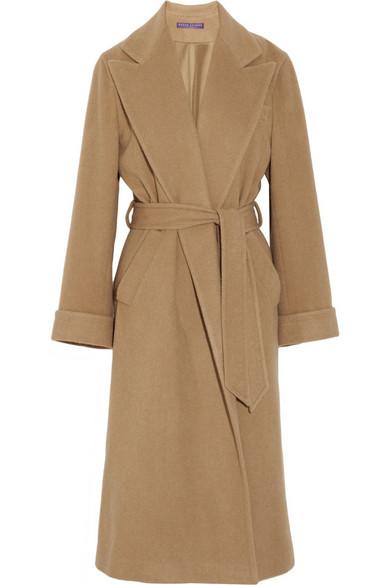 Ralph Lauren Collection Alexandria Camel Hair Coat