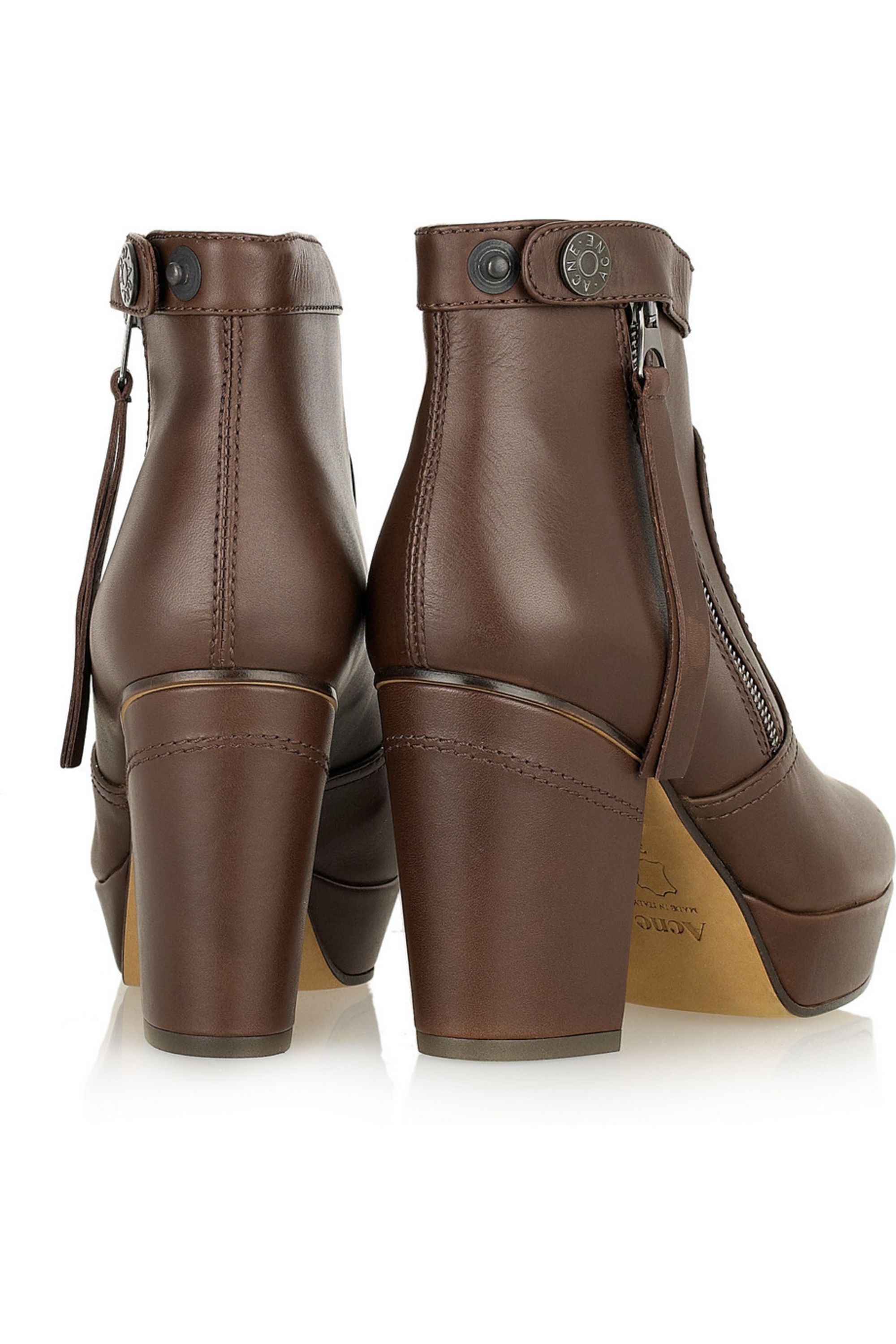 Acne Studios Track leather ankle boots