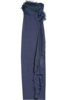 Notte by Marchesa | Organza and silk-crepe strapless gown | NET-A-PORTER.COM from net-a-porter.com