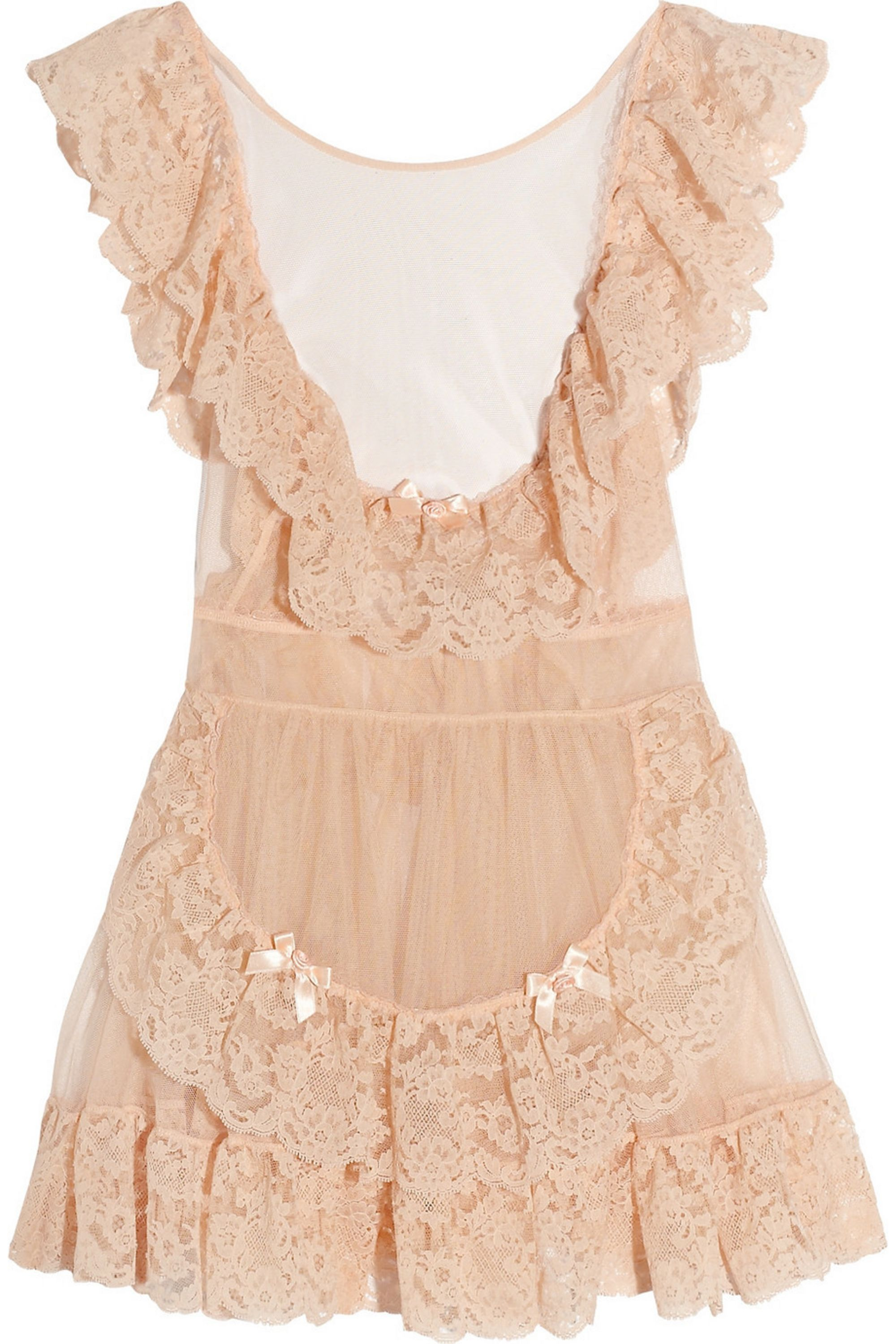Agent Provocateur Lucienne tulle and lace pinafore babydoll