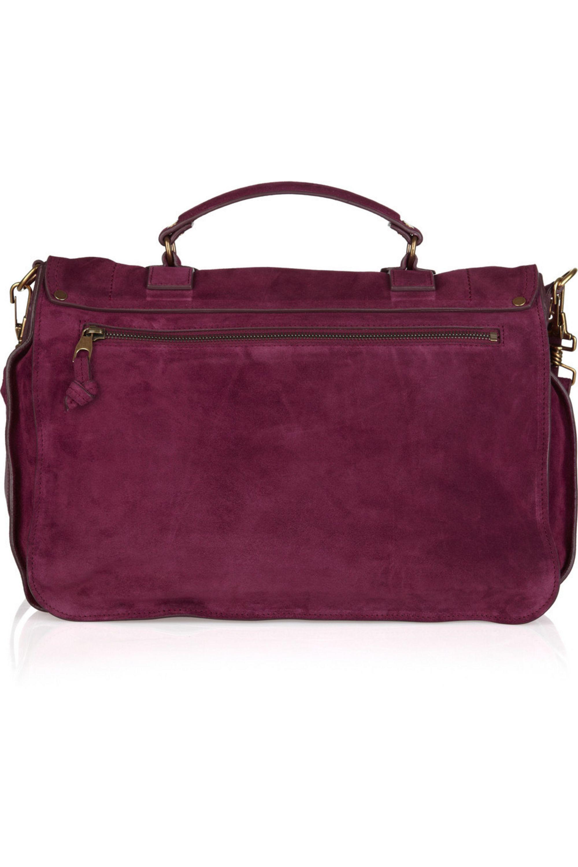 Proenza Schouler PS1 Large suede satchel