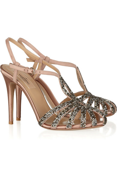 Satin sandals with crystals Valentino g1iYE5W2T