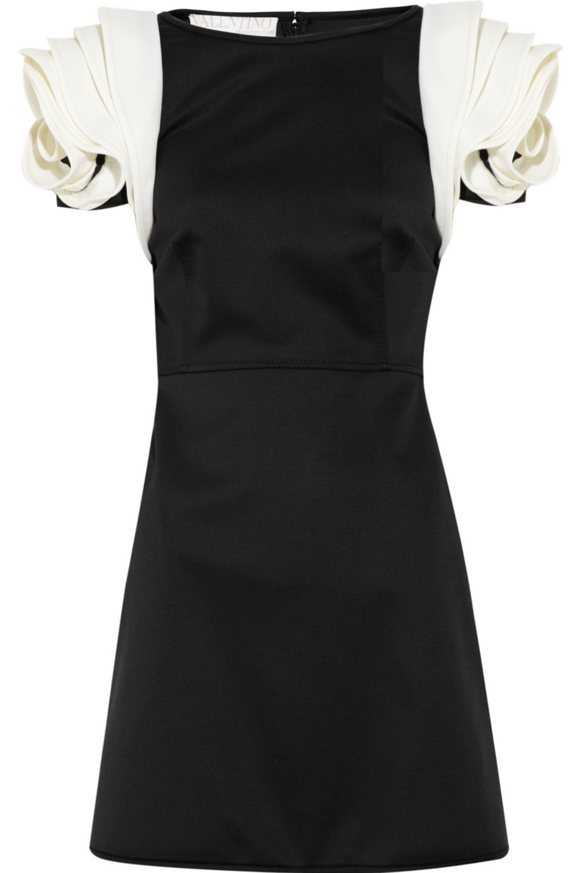 Valentino Rosette-embellished stretch wool-twill dress