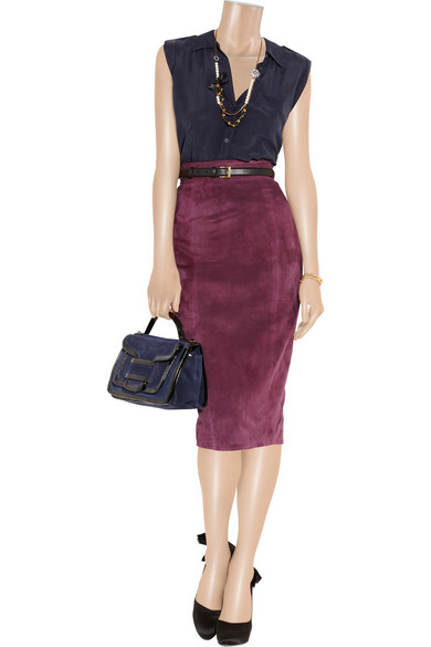 L'Wren Scott | Suede pencil skirt | NET-A-PORTER.COM