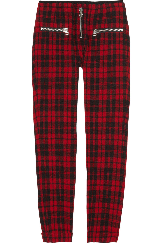 Isabel Marant Étoile Gary cropped tartan wool-blend pants