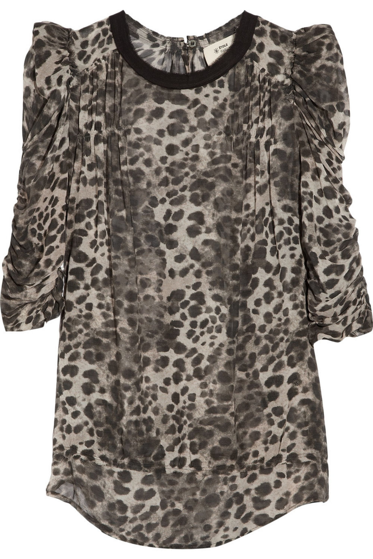 Isabel Marant Étoile Belina leopard-print silk-georgette blouse