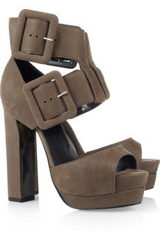 Pierre Hardy | Buckle-fastening suede sandals | NET-A-PORTER.COM from net-a-porter.com