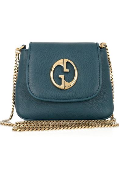89db0a3835f73f Gucci | 1973 mini leather shoulder bag | NET-A-PORTER.COM