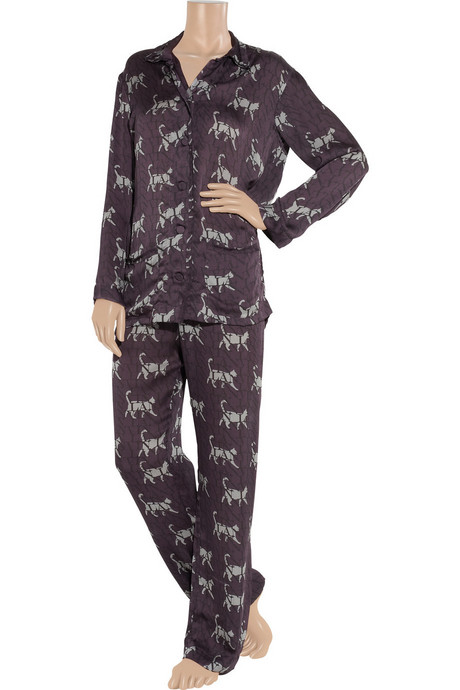 LANVIN Catwalk printed silk pajama set