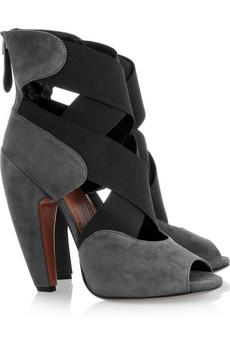 Alaïa|Cross-strap suede sandals|NET-A-PORTER.COM from net-a-porter.com