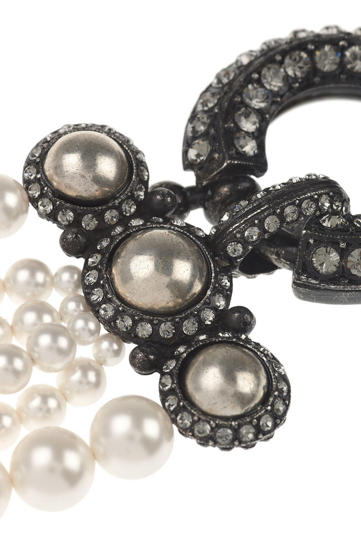 Lanvin Multi-strand glass pearl necklace