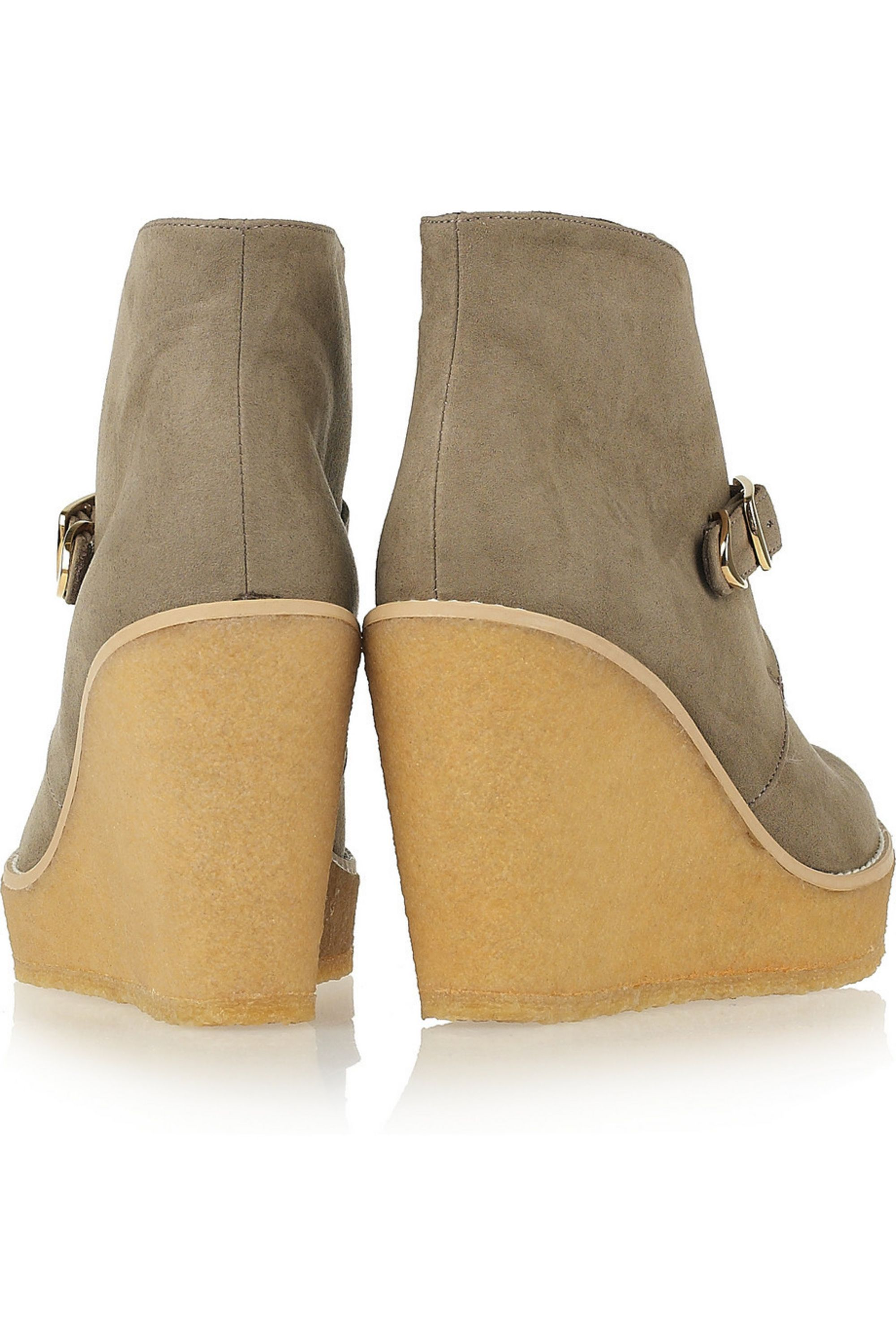 Stella McCartney Faux suede wedge ankle boots