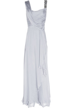 Matthew Williamson | Asymmetric silk-chiffon gown | NET-A-PORTER.COM from net-a-porter.com