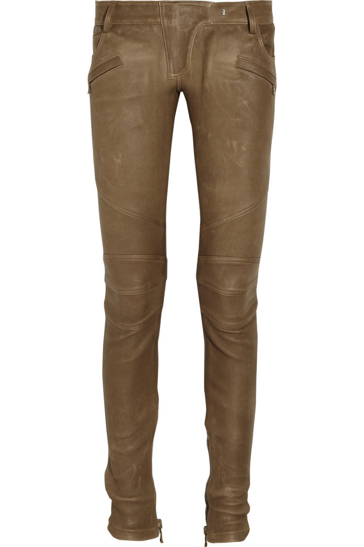Balmain Motocross-style leather pants