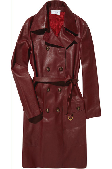 e33bb6d82701 Emilio Pucci. Textured-leather trench coat