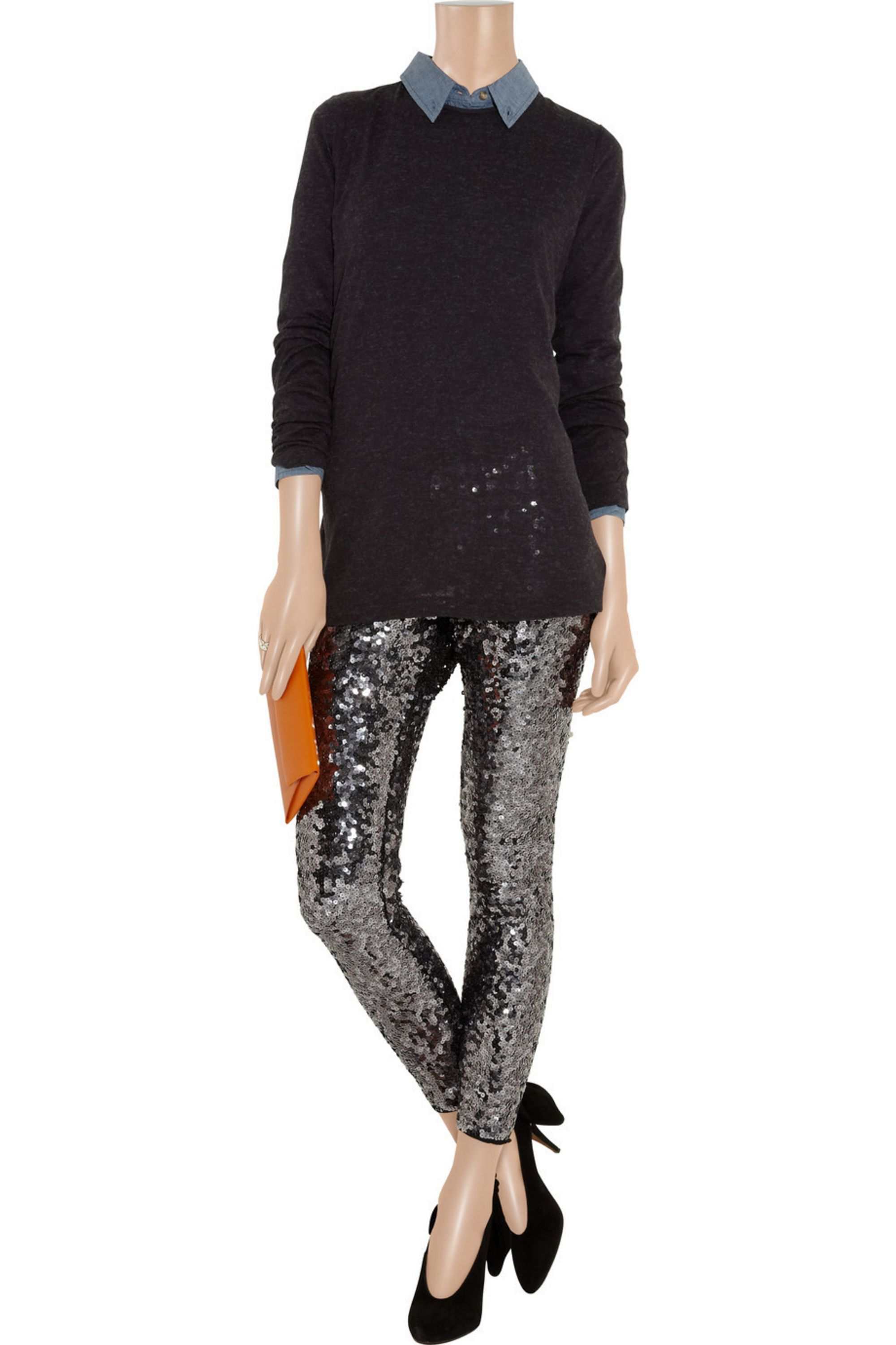 By Malene Birger Milli sequined stretch-jersey leggings