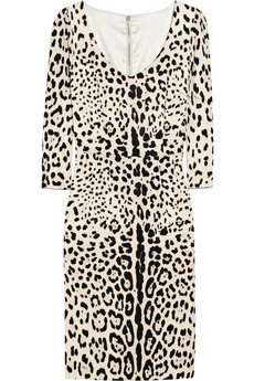 leopard print dress dolce gabbana