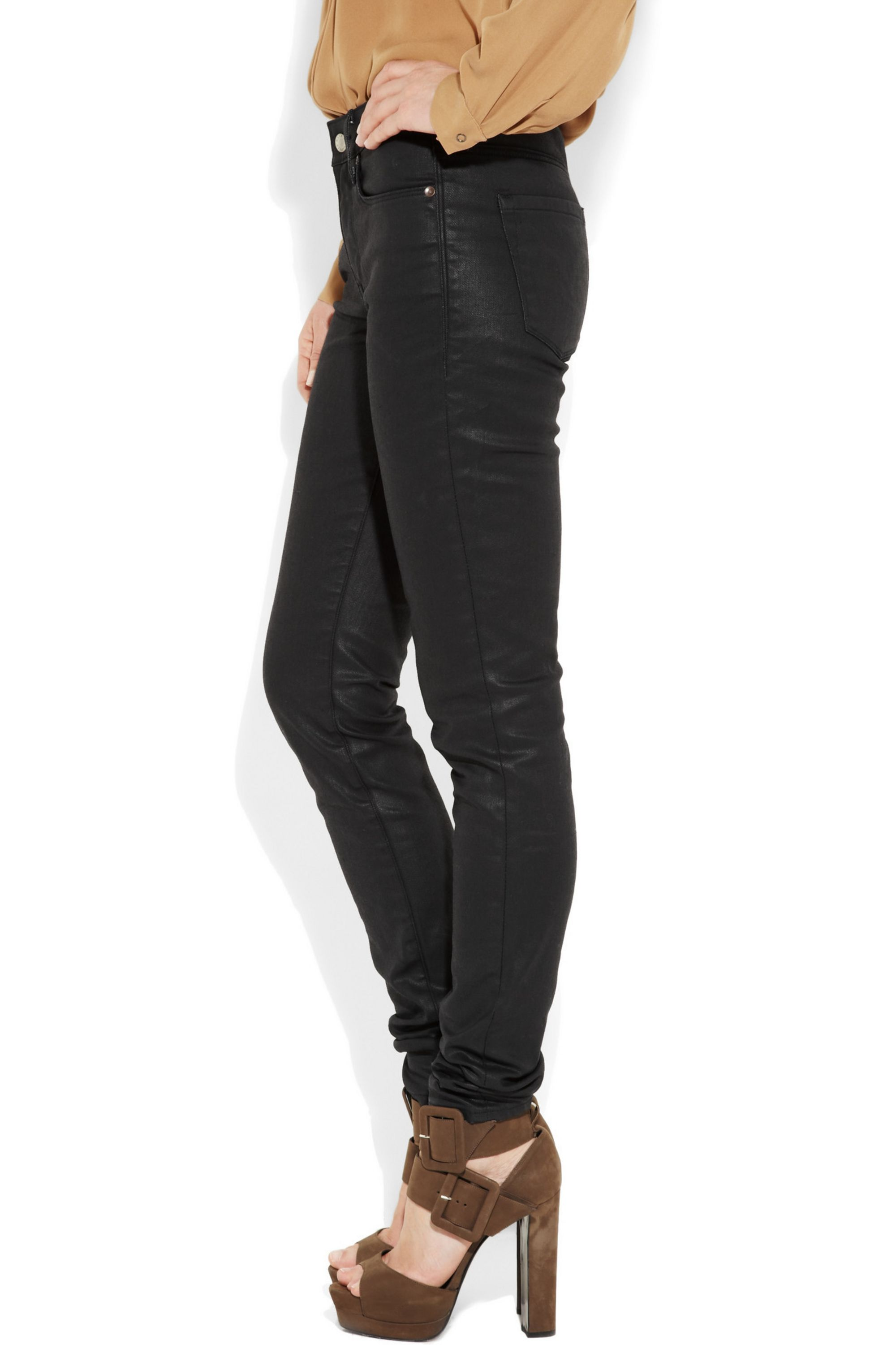 Levi's® Made & Crafted® Empire waxed mid-rise skinny jeans