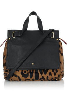 Jerome Dreyfuss | Johan animal-print calf hair and leather tote | NET-A-PORTER.COM