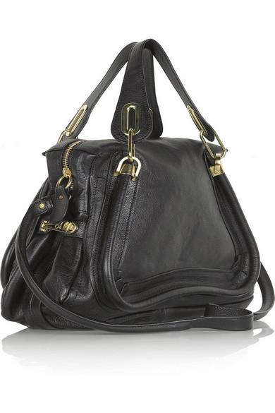 black medium paraty chloe bag