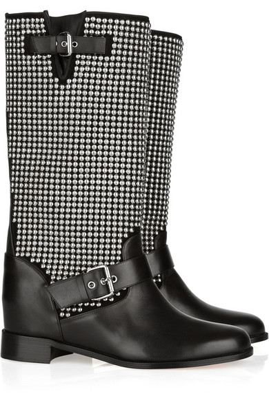 reputable site c2ade d5f77 Akhalil 70 studded leather biker boots