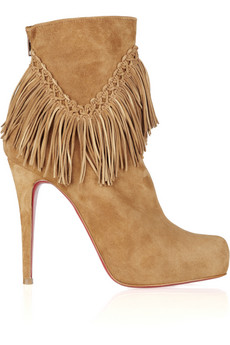 Christian Louboutin | Rom 120 fringed suede ankle boots | NET-A-PORTER.COM from net-a-porter.com