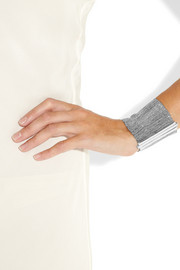 Carolina Bucci Woven 18-karat white gold and silk cuff