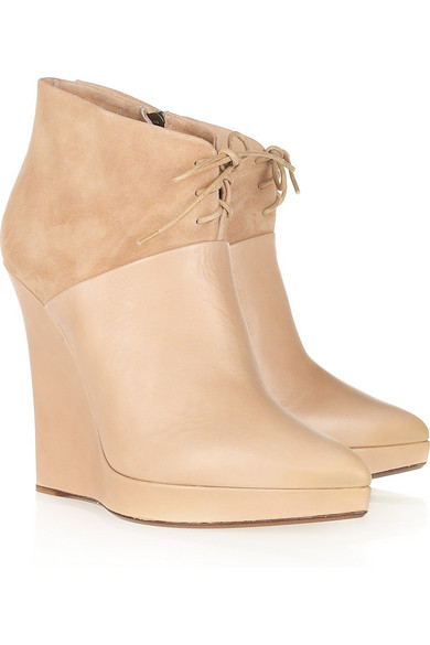 Reed Krakoff Leather Wedge Boots visit new sale online real online cheap sale choice OaZc12Qz