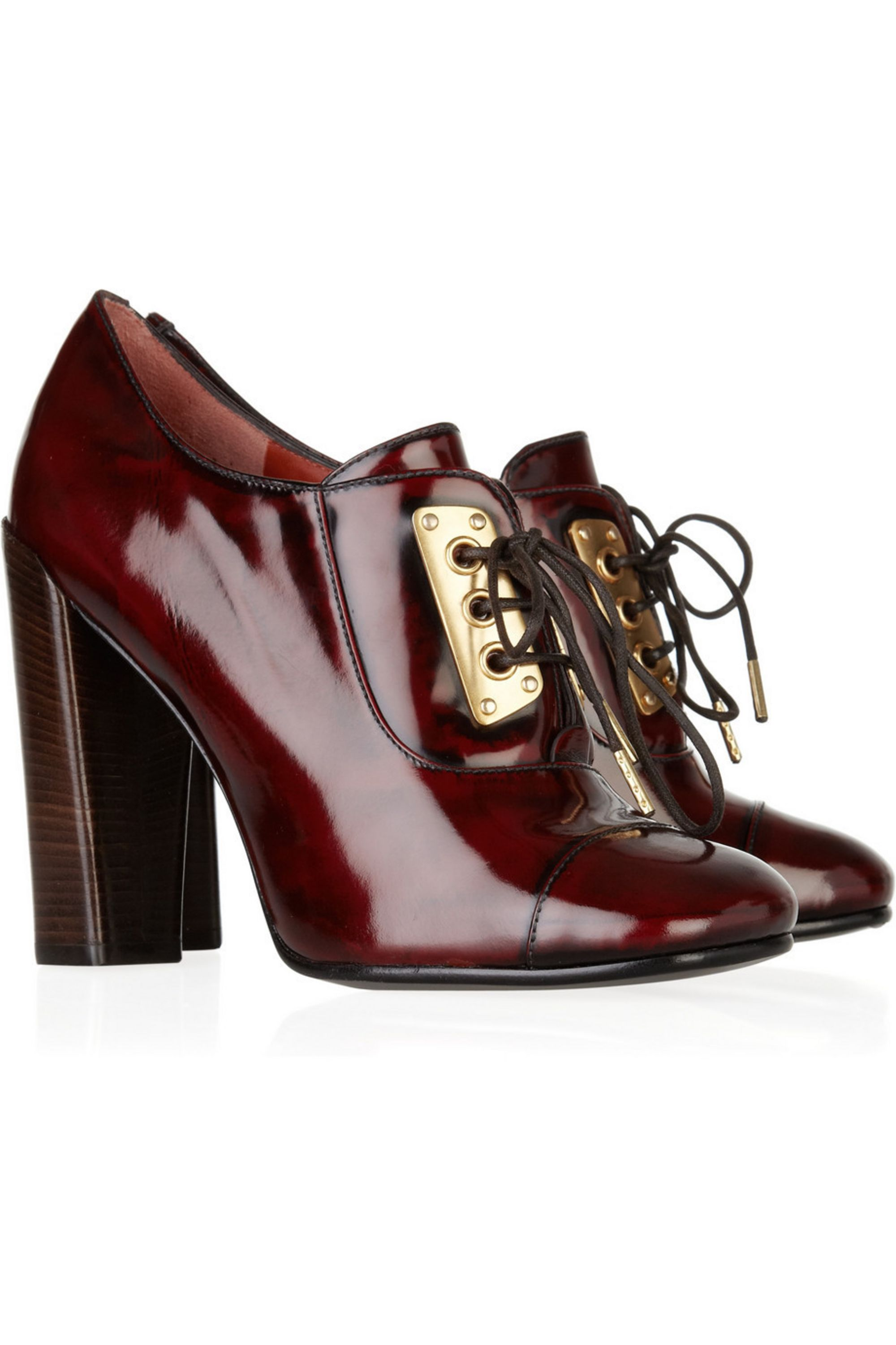 Marc by Marc Jacobs Lace-up patent-leather pumps